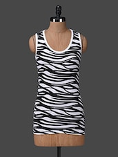 Animal Print Cotton Tank Top - Nuteez