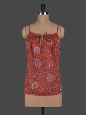 Floral Printed Camisole Neck Top - Ozel Studio