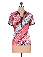 Pink Rayon Printed Top - By