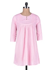 Pink Cotton Pleated Top - By