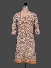 Round Neck Printed Kurta - SHREE