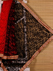 Red And Black Art Silk Saree - Dharitri's Choice