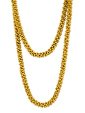 Yellow Beaded Long Necklace - Voylla