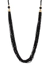 Black Beaded Multilayered Necklace - Voylla