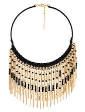 Gold And Black Statement Necklace - By