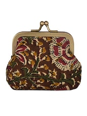 Floral Print Silk Coin Pouch - Molcha