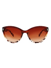 Zyaden Brown Cat Eyes Women Sunglasses - By