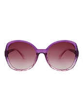 Zyaden Purple Oval Frame Women Sunglasses - By