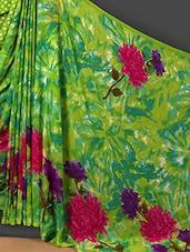 Dahlia Printed Green Art Silk Saree - Nanda Silk Mills