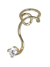 Coiled Crystal Ear Cuff - Fayon