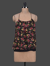 Floral Print Strappy Top - Colbrii