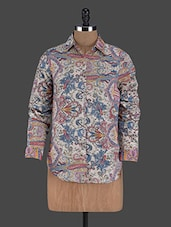 Long Sleeves Printed Polycrepe Shirt - Thegudlook