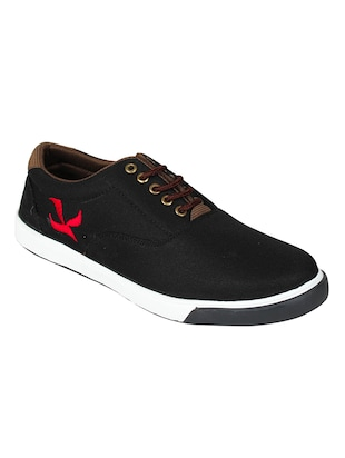 solid black canvas sneakers -  online shopping for Shoes