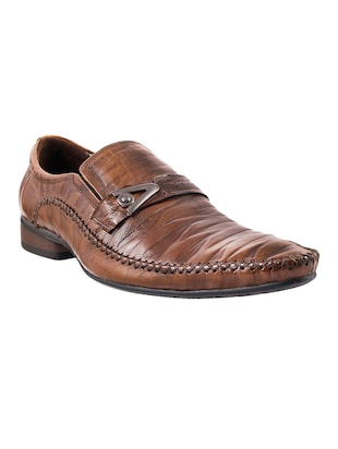 brown leather slip on ons -  online shopping for Slip Ons