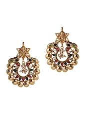 Lord Ganesh Embellished Earrings - Honey Collections- By Aryan