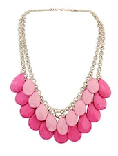 Pink Metal Short  Necklace - By