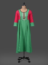 Three Quarter Sleeves Cotton Kurta - Aana