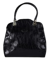 Black Leatherette Handbag - Hotberries