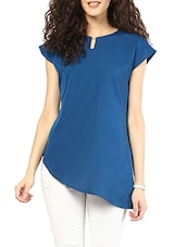 Blue Asymmetric Polyester Top - MARTINI