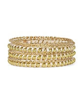 Gold Bangles (Set Of 6) - Honey Collections- By Aryan