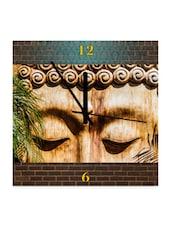 Buddha Engineered Wood Wall Clock - Height Of Deisgns