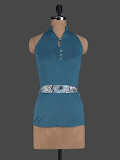 Halter Neck Polyknit Top - Glam And Luxe