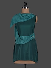 One Shoulder Plain Polyester Dress - Glam And Luxe