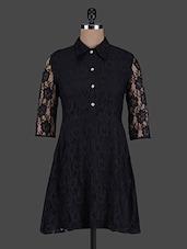 Three Quarter Sleeves Lace Dress - ABITI BELLA
