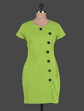 Plain Short Sleeves Polycrepe Dress - ABITI BELLA
