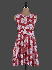 Floral Printed Sleeveless Cotton Dress - ABITI BELLA