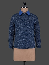 Printed Long Sleeves Cotton Shirt - ABITI BELLA
