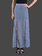 Front Slit Floral Printed Georgette Skirt - ABITI BELLA