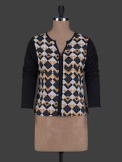Printed Long Sleeves Polycrepe Top - ABITI BELLA
