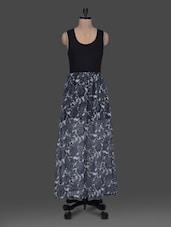 Printed Round Neck Sleeveless Georgette Maxi Dress - Harpa