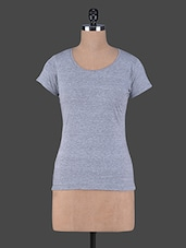 Short Sleeves Plain Cotton Knit Tee - Fashionexpo