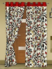 Cream Printed Polyester Door Curtains (Set Of 2) - Story @ Home - 1126086