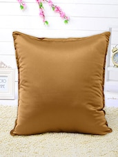 Set Of 5 Solid Brown Cushion Covers - By