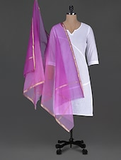 Pink And Purple Organza Dupatta - Aarohii