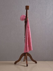 Pink Pure Cotton Bath Towel - Firangi