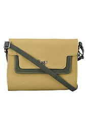 Dual Pocket Textured Leatherette Handbag - Baggit