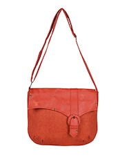 Orange Leatherette Sling Bag - Baggit