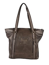 Poly Shimmer And Leatherette Tote Bag - Baggit
