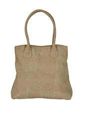Plain Solid Leatherette Handbag - Baggit