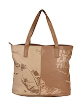 Typographic Printed Leatherette Handbag - Baggit