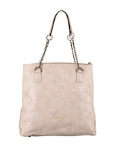 Chain Strap Leatherette Tote Bag - Baggit