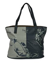 Typographic Print Leatherette Handbag - Baggit