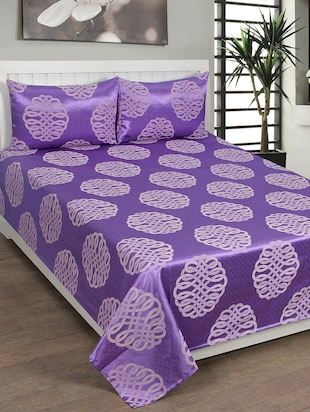 Jaquard Double Bed Cover with Two Pillow Covers -  online shopping for bed covers