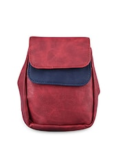 Color Block Leatherette Sling Bag - Baggit