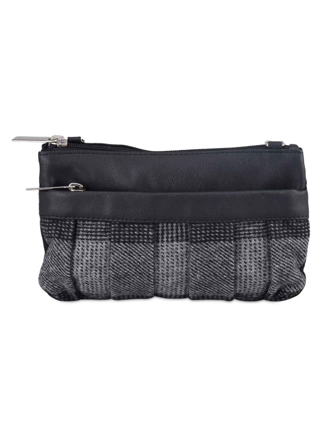 Fabric And Leatherette Sling Bag - Baggit