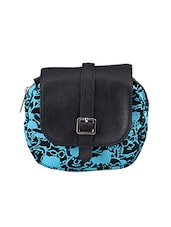Printed Buckle Detailed Sling Bag - Baggit